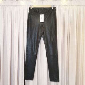 NWT 7 For All Mankind Faux Leather Pants